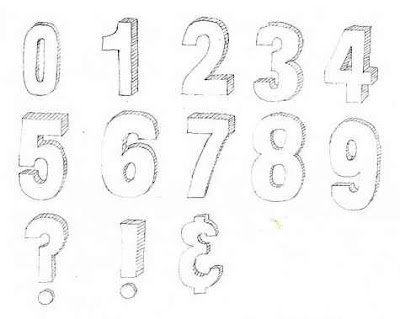 Drawing Sketch Graffiti Alphabet and Numbers