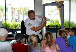 Fish handling instructions at Port Canaveral Kid's Free Fishing Clinic