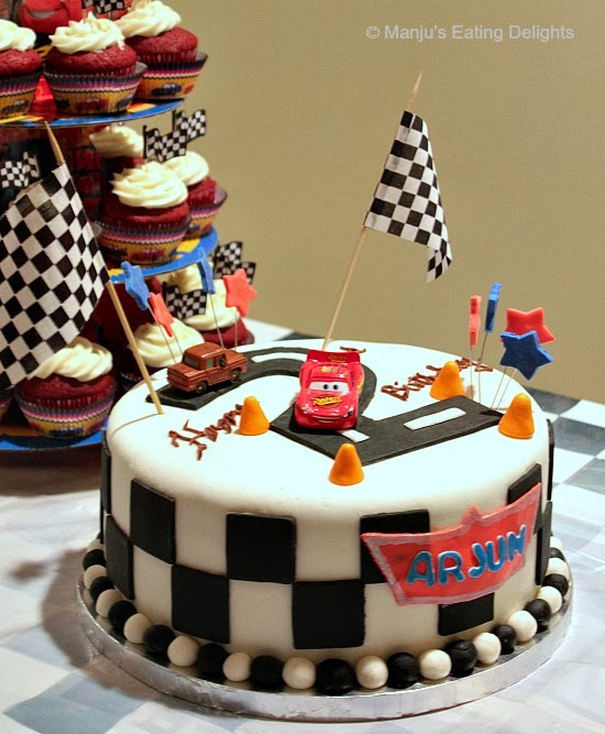 Cake Images Manju : Manju s Eating Delights: Cars themed Birthday Cake and ...