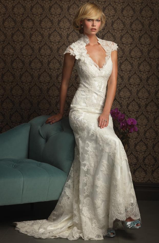 Elegant bridal style wedding dress lace for Classy lace wedding dresses