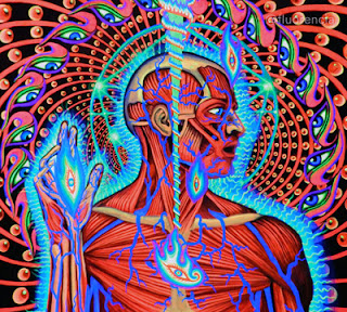 a blacklight poster of alex grey art