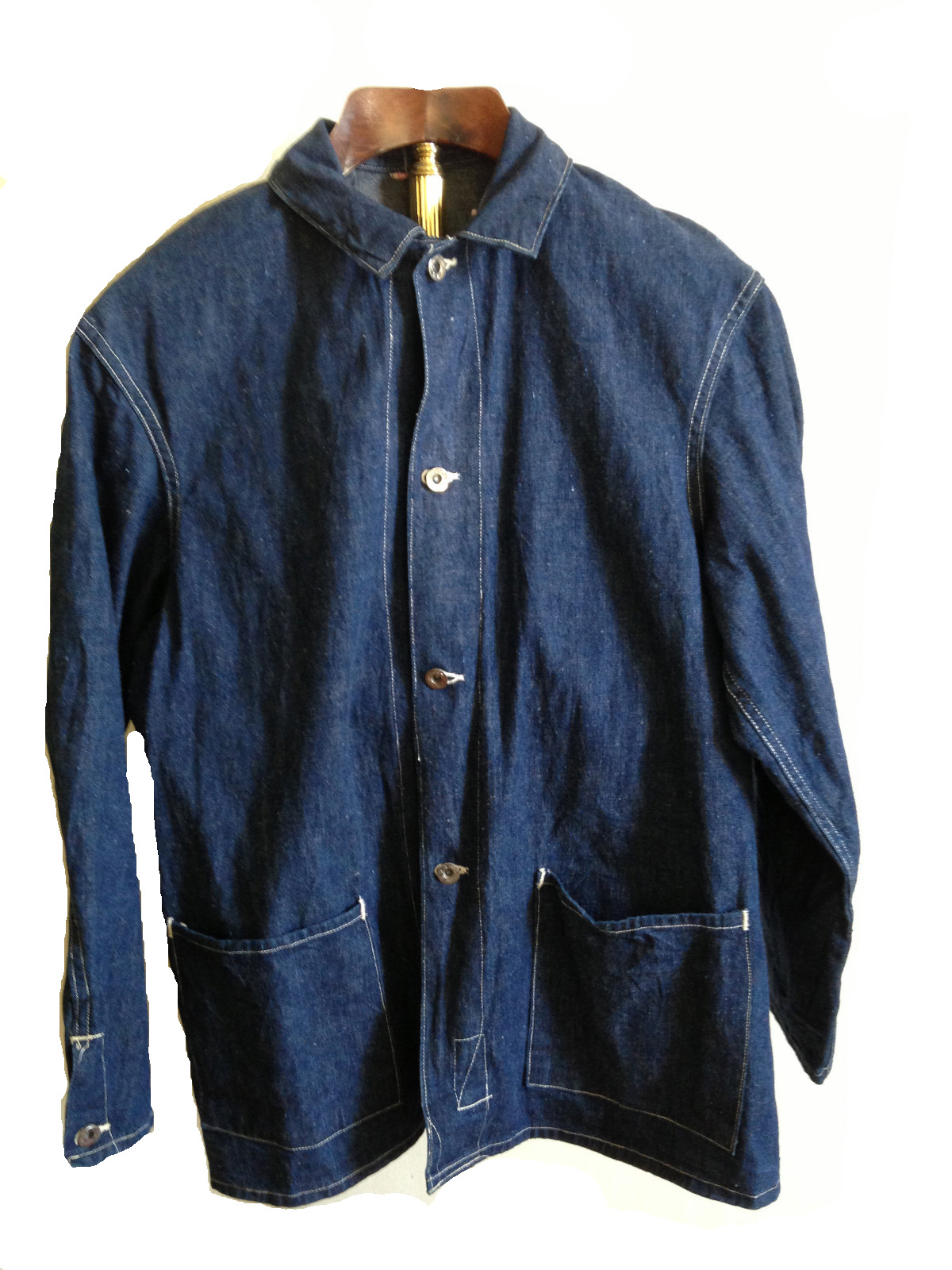 God! Well Vintage mens two pocket denim shirt happiness!