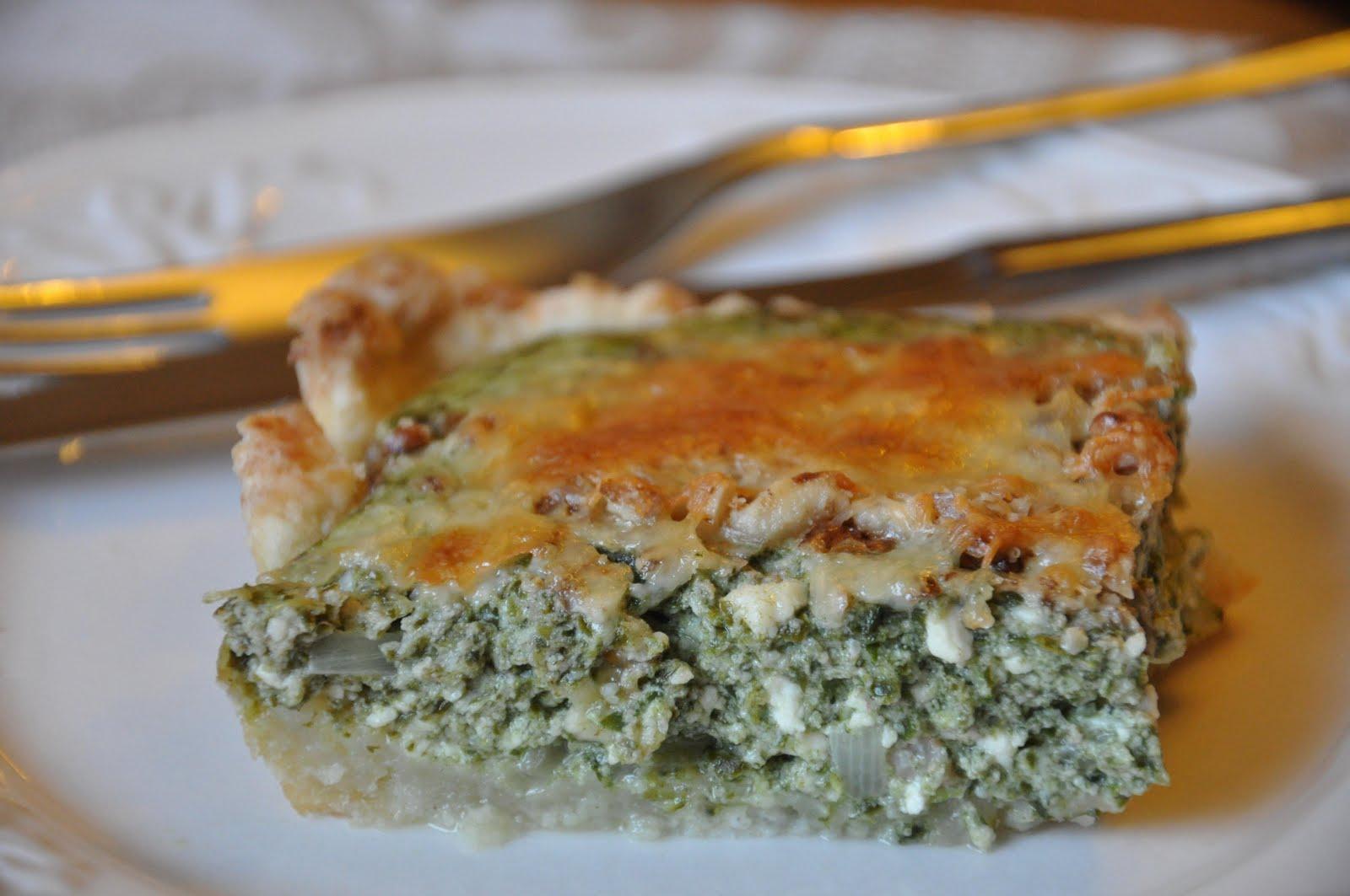 Пирог со шпинатом и творогом с