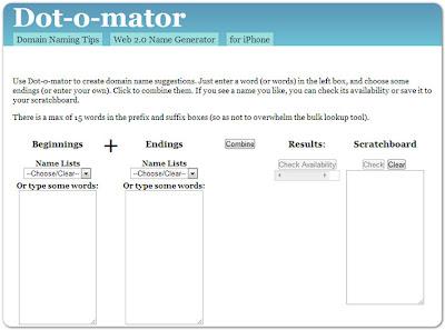 генератор доменов Dot-o-mator