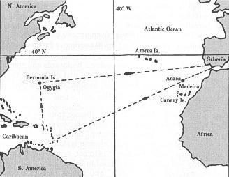 ο Οδυσσέας ταξίδεψε μέχρι τις ακτές της Αμερικής