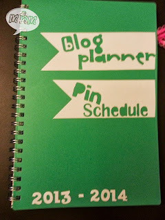 blog planner & pin schedule vinyl cover