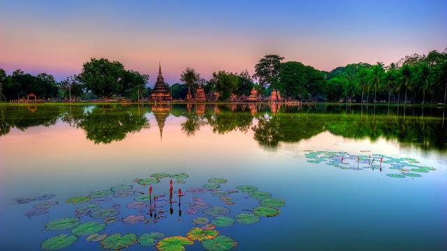 Sukhothai Historial Park in Thailand