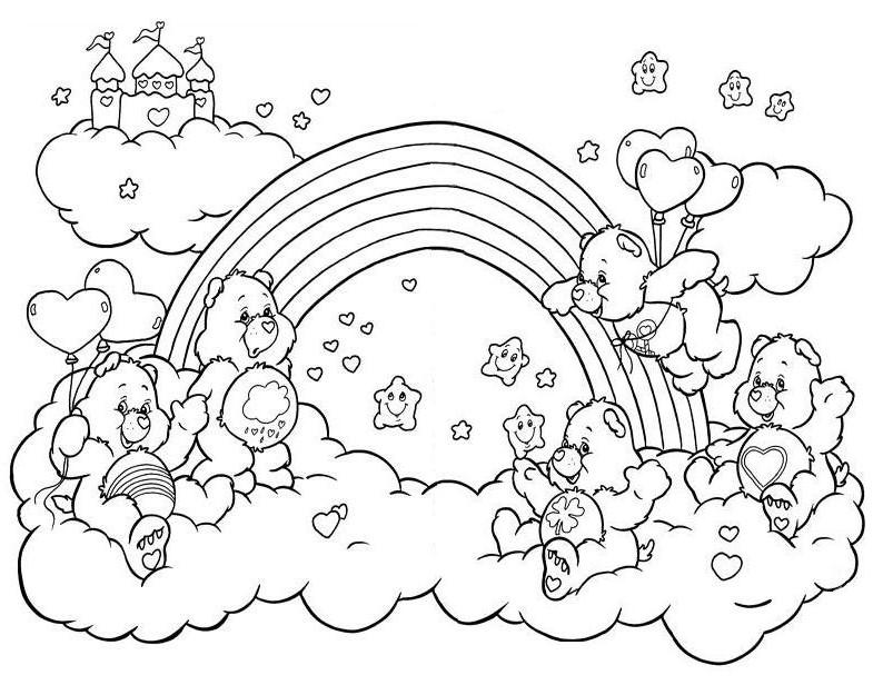 Desenhos de Ursinhos Carinhosos para colorir jogos de  - imagens para colorir dos ursinhos carinhosos