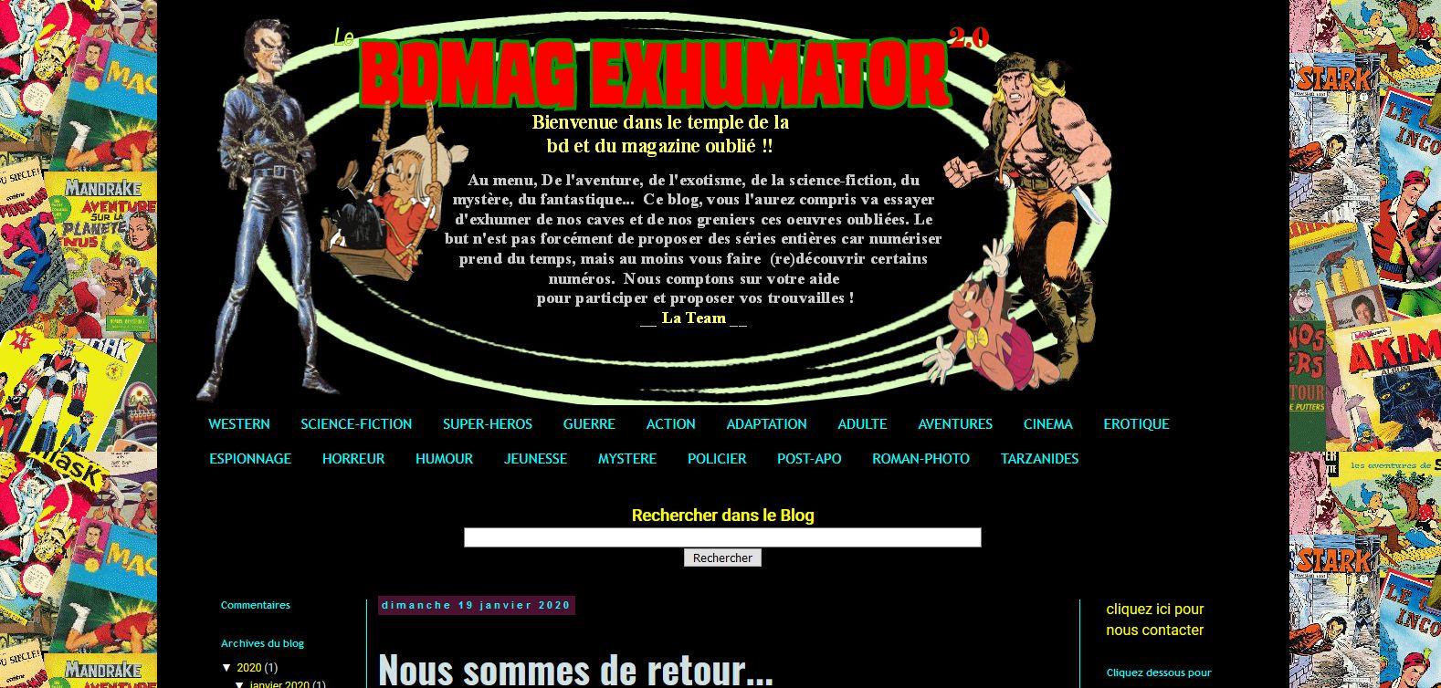 De nuevo, el blog amigo Bdmag Exhumator vuelve a publicar : Bon retour!!