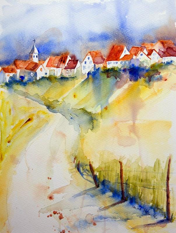 aquarelle village