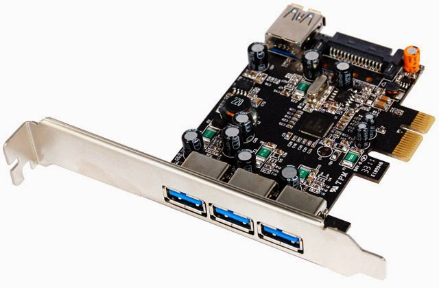 PCI Express (PCIe) to SuperSpeed USB 3.0 Host Adapter 3+1 Ports U-750
