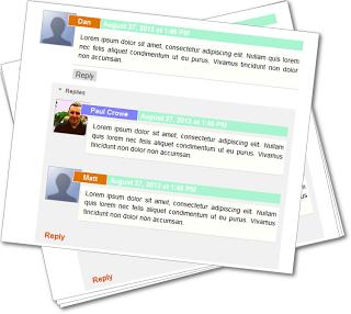 Giao diện nhận xét khá đẹp cho Blogger