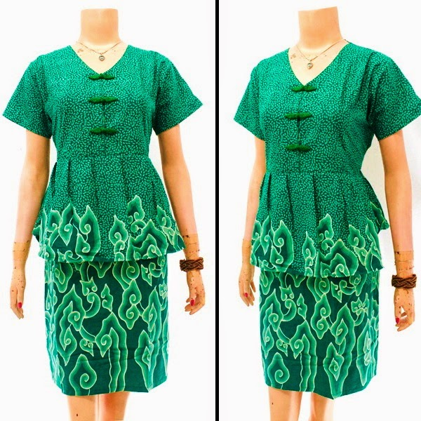 DB3835 Model Baju Dress Batik Modern Terbaru 2014
