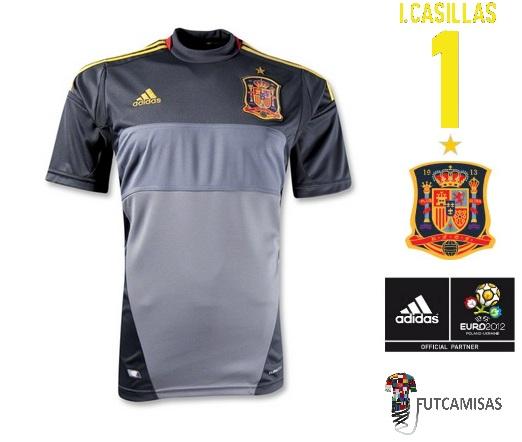 b197dc2833 FutCamisas  Camisa Adidas Espanha Uefa Euro 2012 I.Casillas Away
