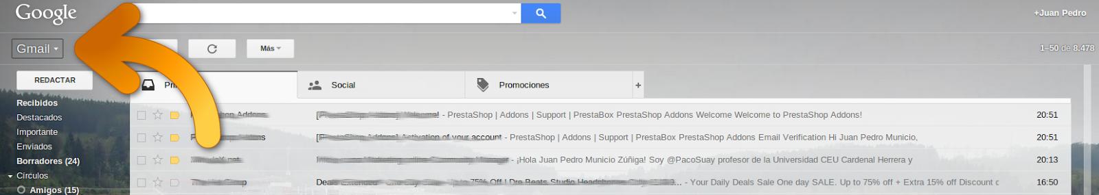 gmail contactos