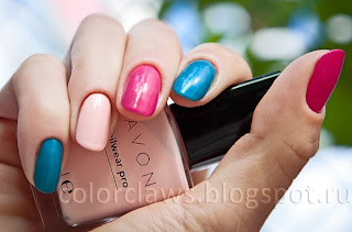 Avon Viva Pink + Blue Escape + Pastel Pink
