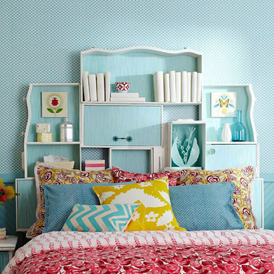 cabecero cama mueble almacenamiento