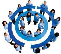 Círculo azul - Logo internacional de la Diabetes