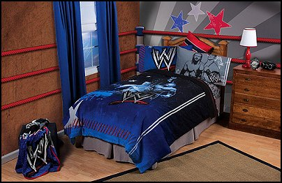 Craft Ideasyear  Boys on Wwe Wrestling Bedding  Towels  Lighting And Bedroom Accessories