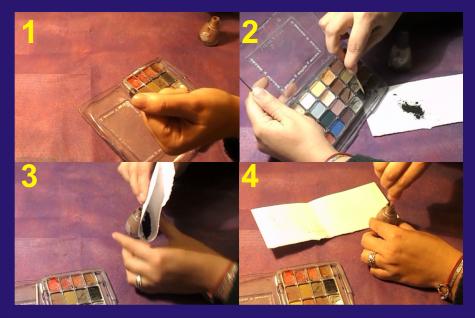 Como cambiar el color de la laca con sombra de ojos