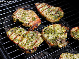 Cilantro-Jalapeno Grilled Pork Chops