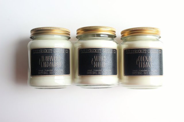 Lollyrocket Candle Co Candles for Gents