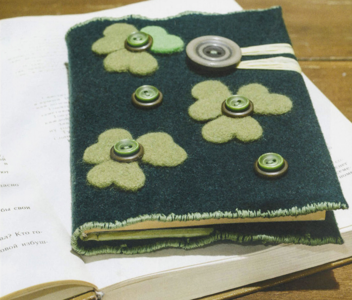 Обложка для книги из войлока