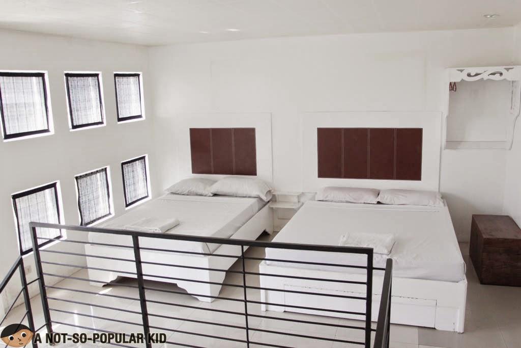 The beds in the loft of Barkada Room, Balay da Blas