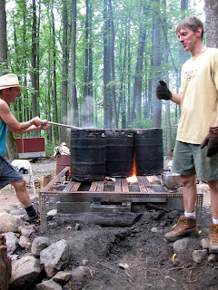 Fire Brewing with Marty and Martin.