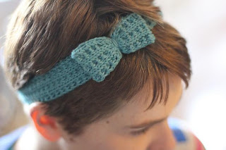 image knitted bow headband ribbed