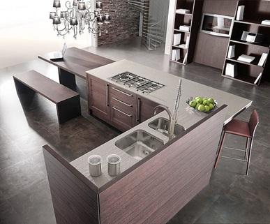 Kitchen home design decoracion de cocinas con madera modernas for Cocinas integrales modernas de madera