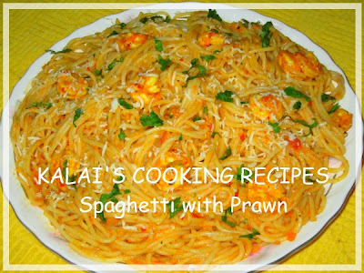 Spaghetti with Prawn Masala Recipe