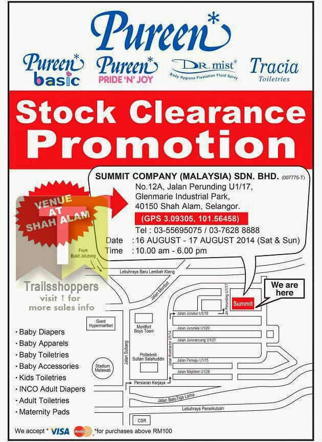 Pureen Stock Clearance Promotion 2014 offers