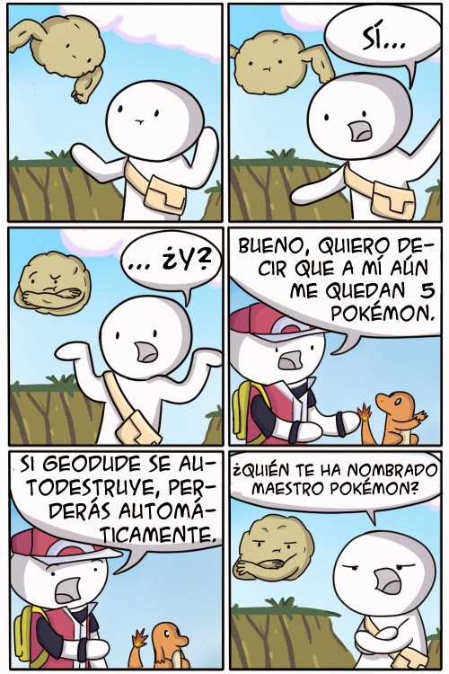Autodestrucción geodude: viñeta humor pokemon