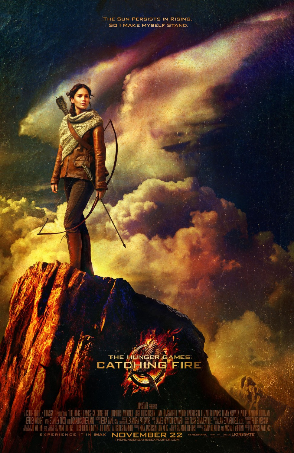 New poster of the hunger games 2 catching fire teaser for Die tribute von panem film