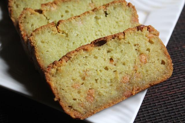 Eggless Avocado Loaf Cake Recipe – Avocado & White Chocolate Cake Recipe