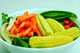 Maíz y verduras