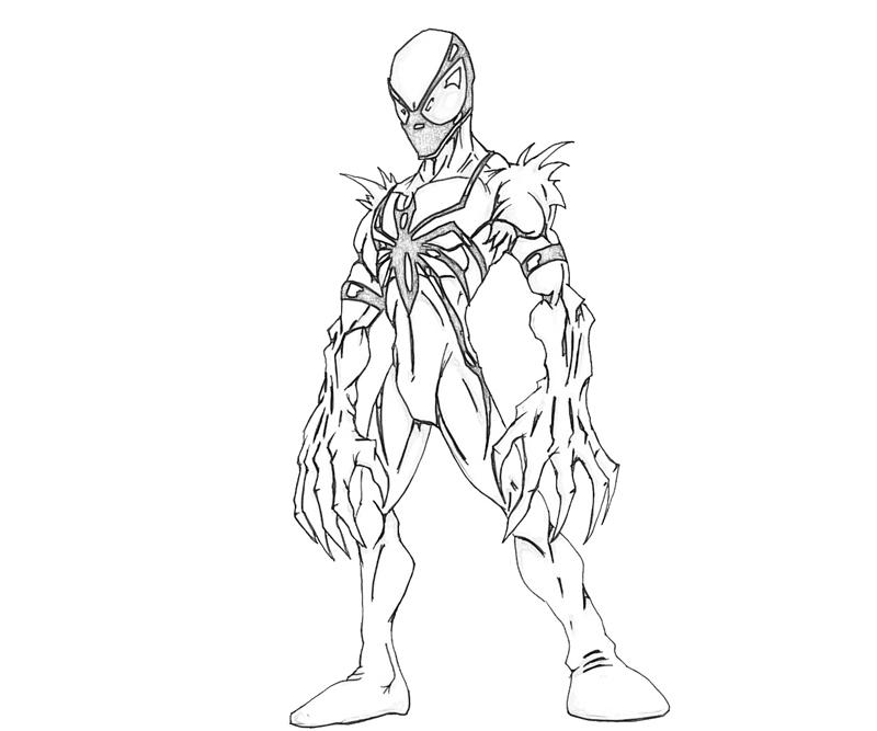 Anti Venom Chibi Coloring Pages