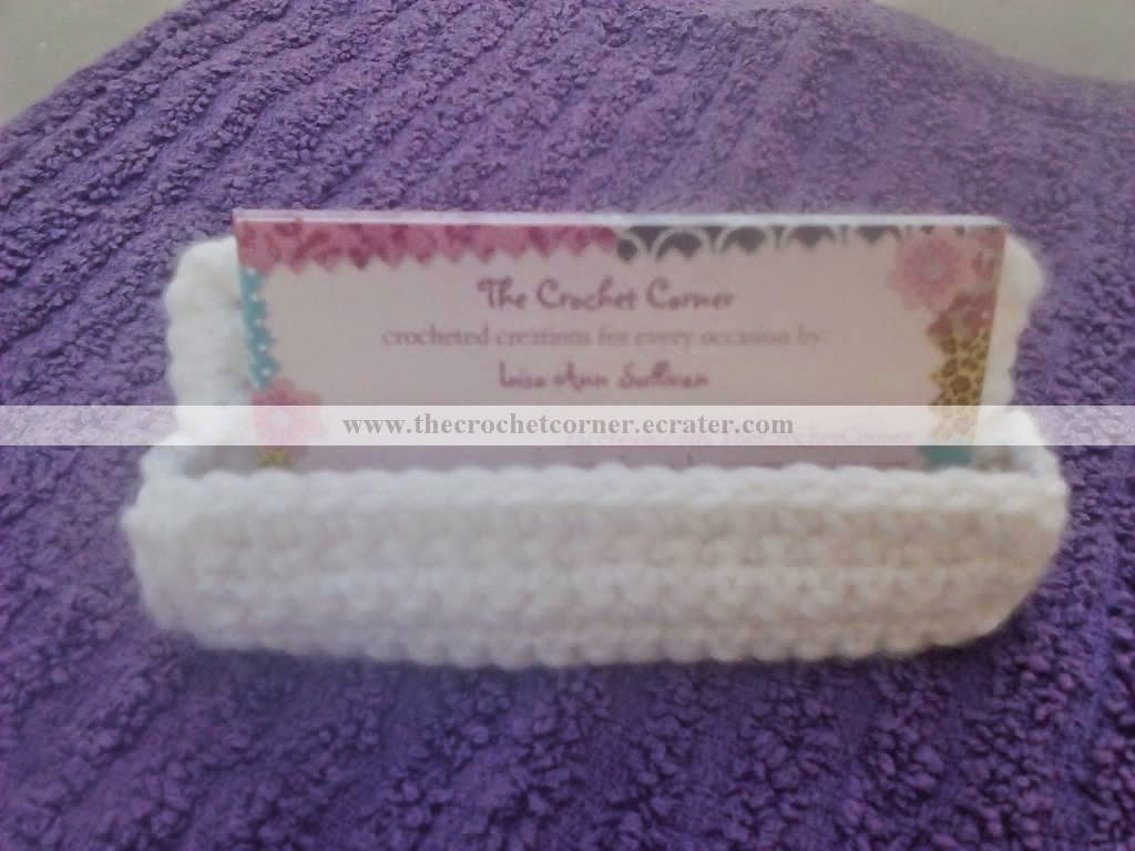 The Crochet Corner: FREE PATTERN-Business Card Holder
