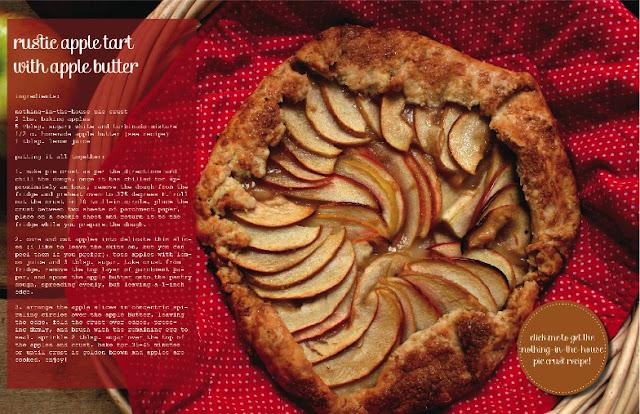 Rustic Apple Tart with Apple Butter in Luri & Wilma