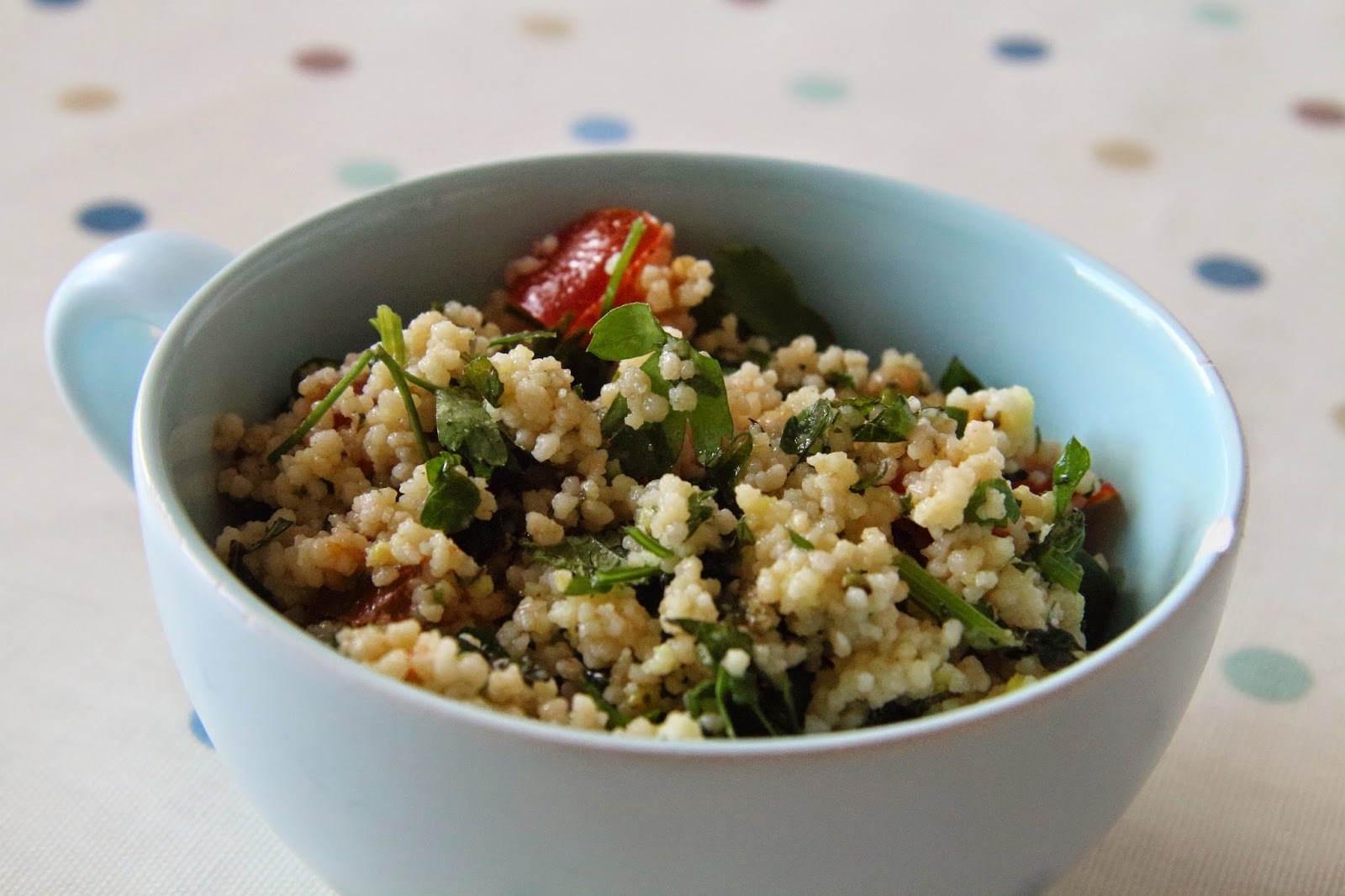 Syn free couscous salad a lighter dairy free Slimming World lunch