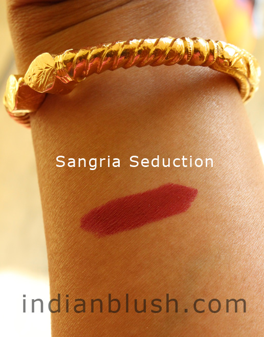 lakme, lakme lipstick, sangaria seduction, wine colour