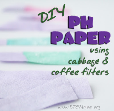 Tutorial on making your own pH paper using cabbage juice and coffee filters: STEMmom.org