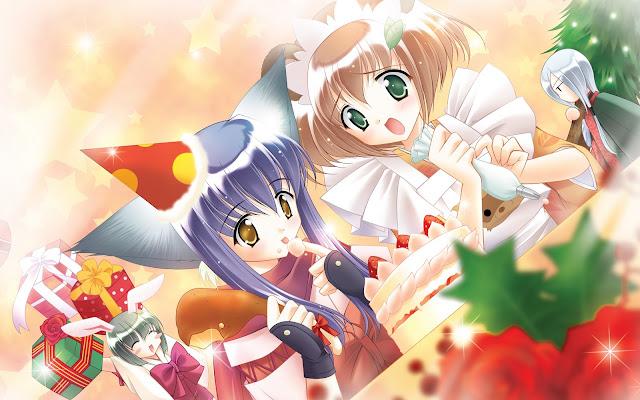 Chicas Anime Feliz Navidad y Feliz Año Nuevo