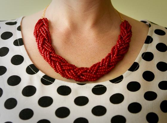 Ten June Five Fun Football Season DIY Crafts - Diy braided necklace