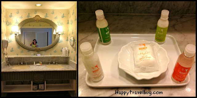 Beach Club resort bathroom and toiletries