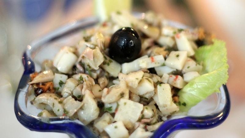 croazia, cibo, food, insalata frutti di mare