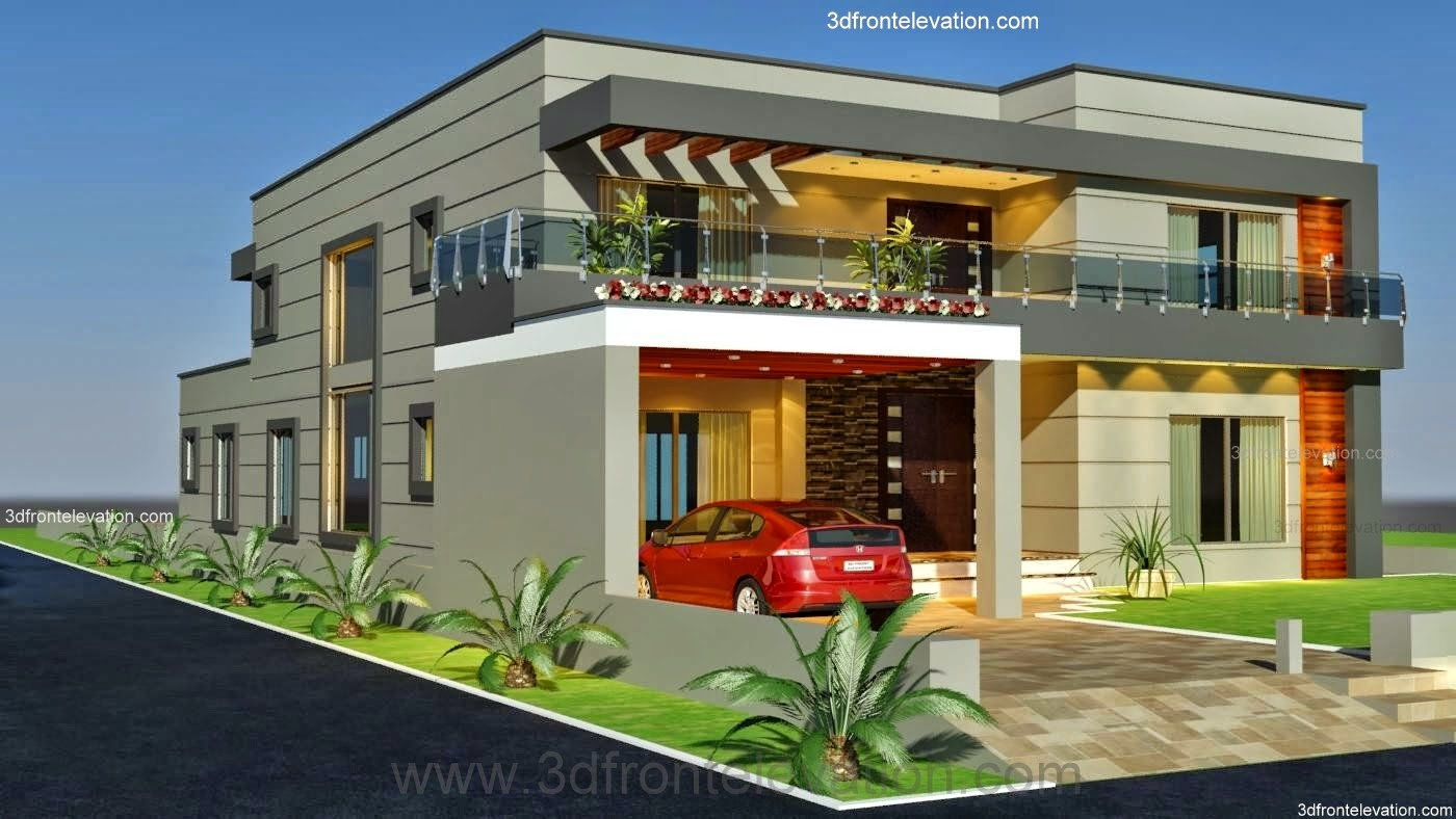Front Elevation Modern Home : D front elevation kanal old style house convert in