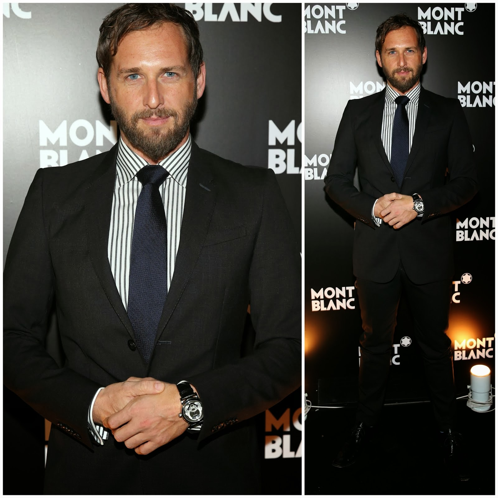 00O00 Menswear Blog: Josh Lucas's Montblanc Nicolas Rieussec timepiece - Madison Avenue boutique opening, New York