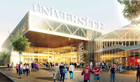 üniversite, üniversite kampüsündeki öğrenciler, üniversite binası